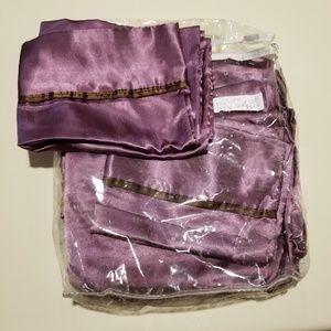 Full size purple satin bed sheets